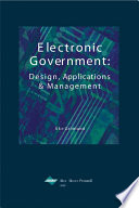 Electronic Government  Design  Applications and Management