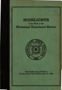 Annual Report   Mississippi Agricultural Experiment Station