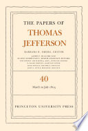 The Papers of Thomas Jefferson  Volume 40 Book PDF