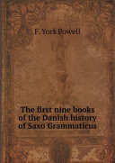 Pdf The first nine books of the Danish history of Saxo Grammaticus