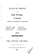 A Scale of prices for job work on old ships  for the shipwrights of the river Thames