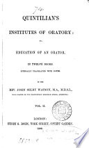 Quintilian's Institutes of Oratory