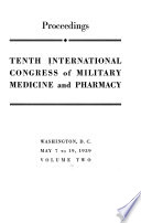 Tenth International Congress of Military Medicine and Pharmacy v. 2