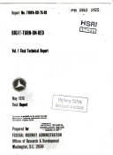 Right turn on red  Volume I  Final Technical Report Book