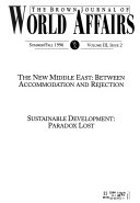 The Brown Journal of World Affairs Book