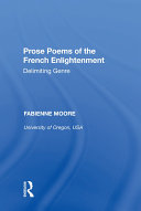 Pdf Prose Poems of the French Enlightenment Telecharger