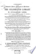 Auction catalogue, books of Guglielmo Libri, 25 April to 8 May 1861