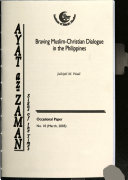 Braving Muslim Christian Dialogue in the Philippines