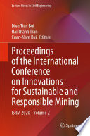 Proceedings of the International Conference on Innovations for Sustainable and Responsible Mining