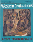 Western Civilizations  Their History and Their Culture