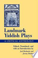 Landmark Yiddish Plays Book