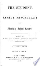 Student and Family Miscellany Book