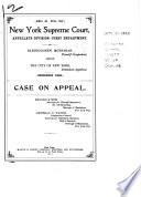 New York Supreme Court  Appellate Division   First Department