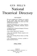 Gus Hill s National Theatrical Directory Book