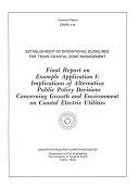 Establishment of Operational Guidelines for Texas Coastal Zone Management