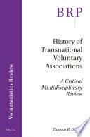 History of Transnational Voluntary Associations