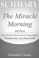 Summary of The Miracle Morning Pdf/ePub eBook