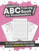 Unicorn ABC Tracing Book for Preschoolers