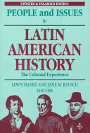 People and Issues in Latin American History Book PDF