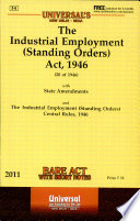 The Industrial Employment  Standing Orders  Act  1946 Book