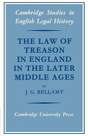 The Law of Treason in England in the Later Middle Ages ebook