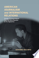 American Journalism And International Relations Book