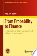 From Probability to Finance