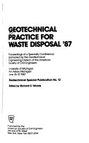 Geotechnical Practice for Waste Disposal  87