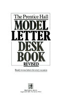 The Prentice Hall Model Letter Desk Book