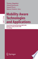 Mobility Aware Technologies And Applications Book PDF