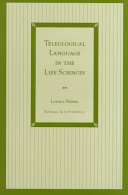 Teleological Language in the Life Sciences