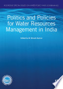 Politics and Policies for Water Resources Management in India Book