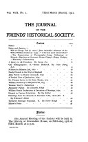 The Journal of the Friends' Historical Society