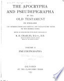 The Apocrypha and Pseudepigrapha of the Old Testament in English