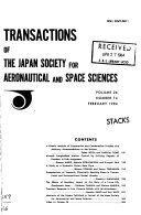 Transactions Of The Japan Society For Aeronautical And Space Sciences Book PDF