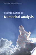 An Introduction to Numerical Analysis Book PDF
