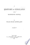 A History of England in the Eighteenth Century Book