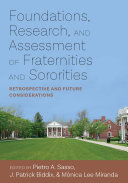 Foundations, Research, and Assessment of Fraternities and Sororities Pdf/ePub eBook