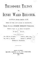 Theodore Tilton Vs. Henry Ward Beecher