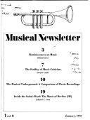 Musical Newsletter Book