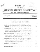 Bulletin Of The African Studies Association Of The United Kingdom