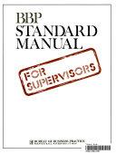 BBP Standard Manual for Supervisors