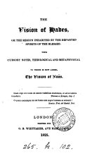 Pdf The vision of Hades, or the region inhabited by the departed spirits of the blessed. With notes. To which is now added, The vision of Noös