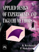 Applied Design Of Experiments And Taguchi Methods Book PDF