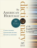 The American Heritage Dictionary of the English Language  Fifth Edition