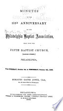 Minutes of the Baptist Association