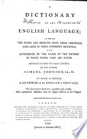 A dictionary of the English language     Abstracted from the folio edition  by the author     To which is prefixed a grammar of the English language  The eleventh edition  corrected and revised  with considerable additions from the eighth edition of the original
