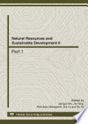 Natural Resources and Sustainable Development II Book