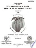 Proceedings of the Interamerican Society for Tropical Horticulture, International Carambola Workshop