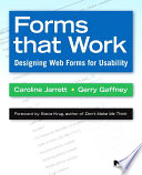 Forms that Work  : Designing Web Forms for Usability